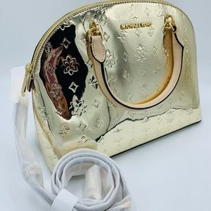 Michael Kors Bags - Michael Kors Emmy Large Dome Satchel In Pale Gold
